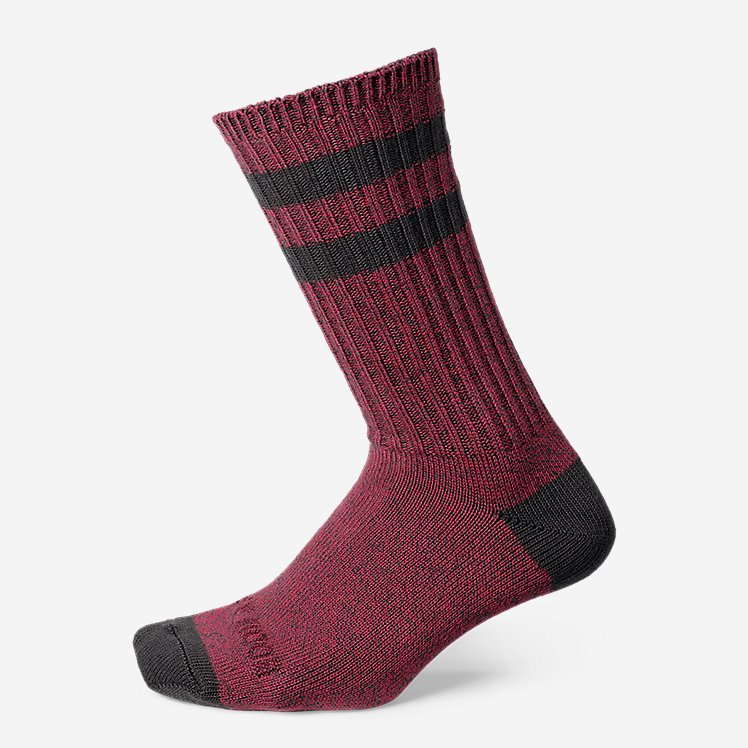 Men's Crew Socks - Marled Stripe large version
