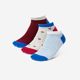 Thumbnail View 1 - Women's Low-Profile Patterned Socks - 3-Pack
