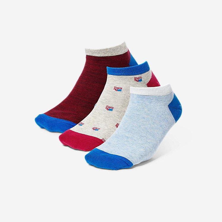 Women's Low-Profile Patterned Socks - 3-Pack large version