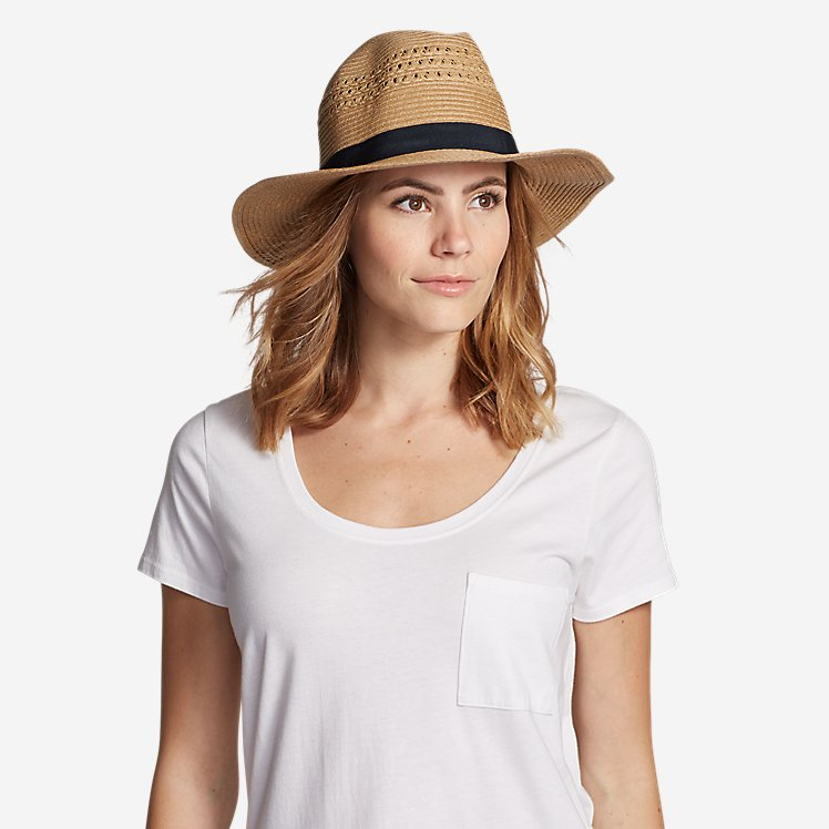 Women's Panama Packable Straw Hat large version