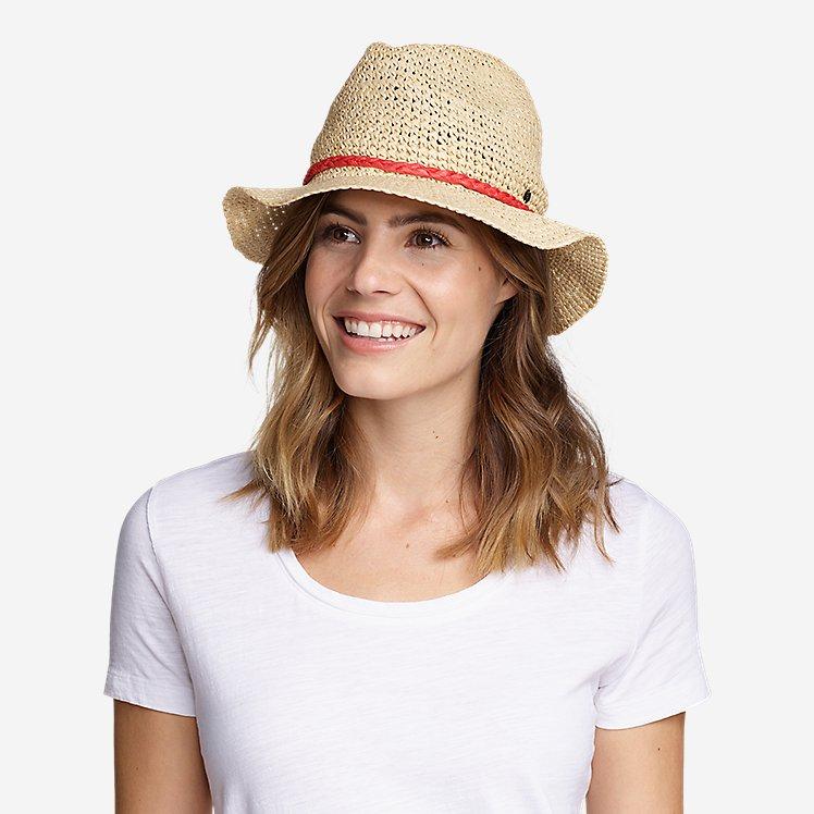 Women's Packable Straw Hat - Medium Brim large version