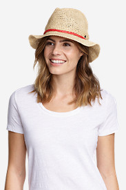 Women's Packable Straw Hat - Medium Brim