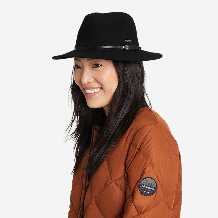Women's Felt Wide Brim Hat large version