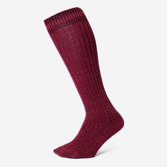 Thumbnail View 1 - Women's Cotton-Blend Ragg Boot Socks