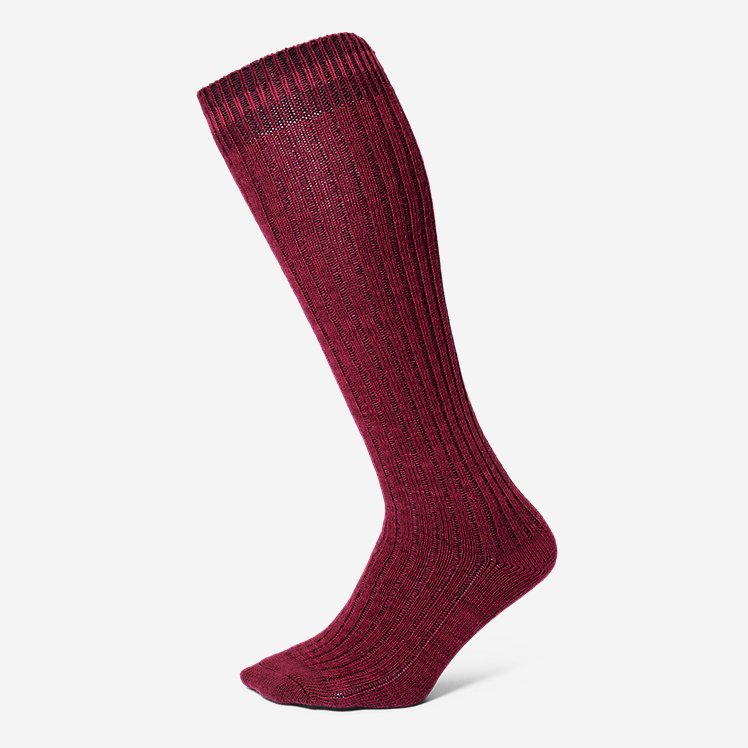 Women's Cotton-Blend Ragg Boot Socks large version