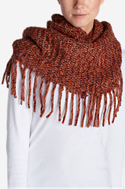 Women's Pine Sweater Fringe Loop Scarf