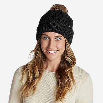 Thumbnail View 1 - Women's Cabin Faux Fur Pom Beanie