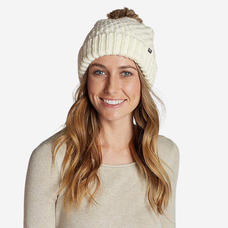 Women's Cabin Faux Fur Pom Beanie large version