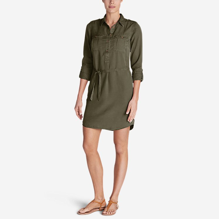 Women's Tranquil Shirt Dress - Solid large version