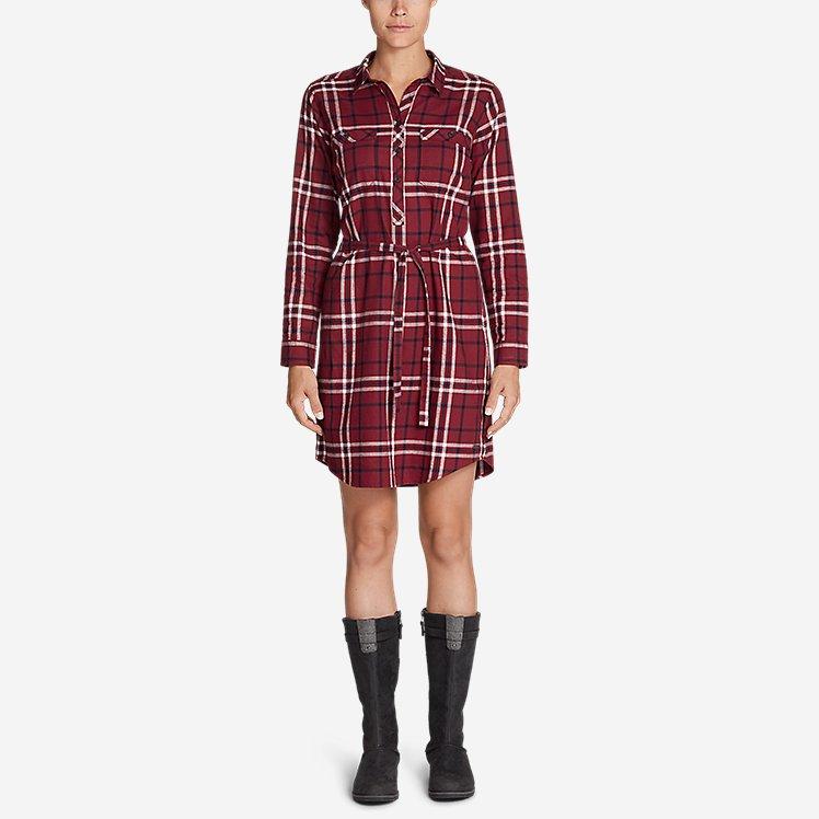 Women's Stine's Favorite Flannel Shirt Dress large version