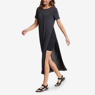 Thumbnail View 1 - Women's Sandwash Short-Sleeve Midi Dress