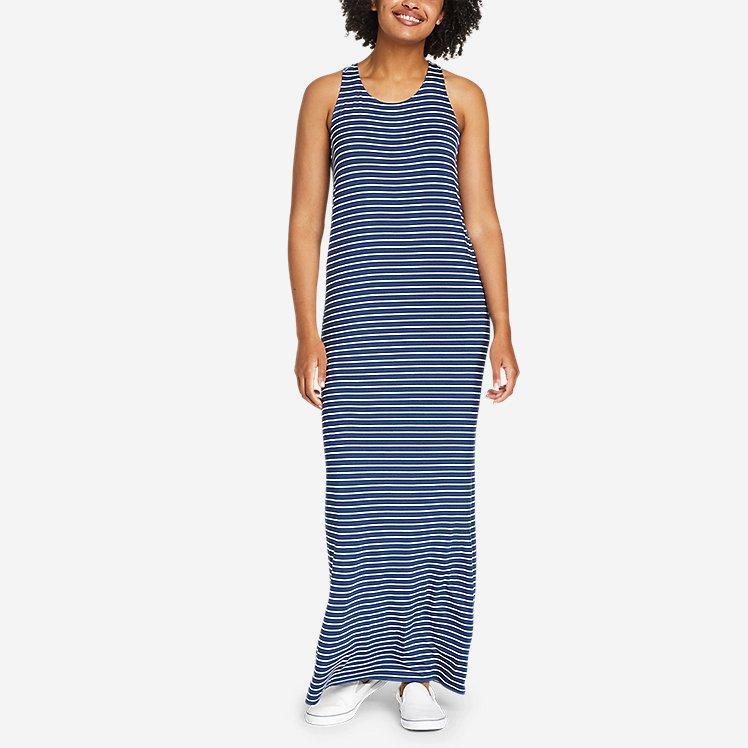 Women's Soft Layer Twist-Back Sleeveless Maxi Dress large version