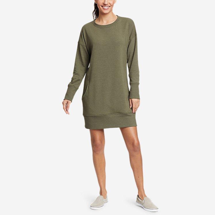Women's Cozy Camp Sweatshirt Dress large version