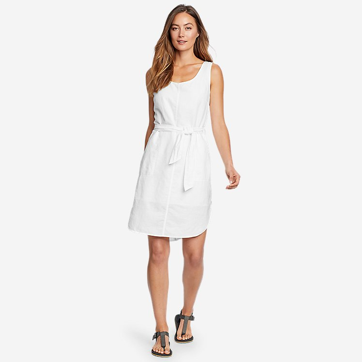 Women's Beach Light Linen Midi Dress large version