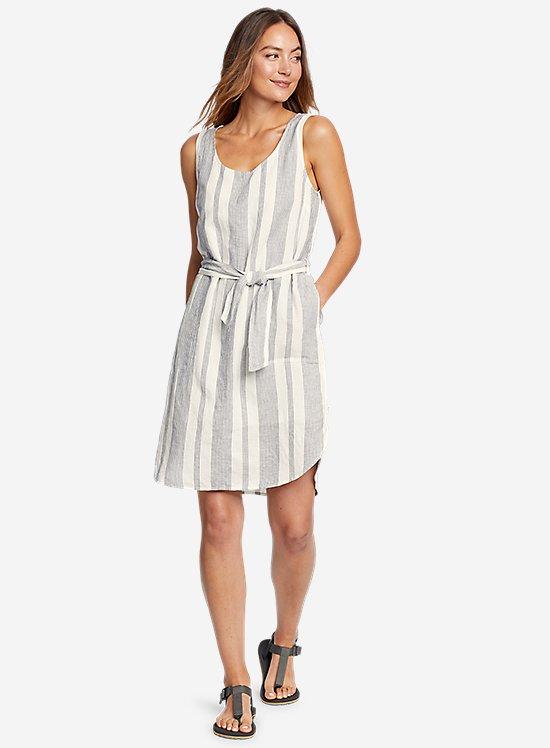 Beach Light Linen Midi Dress