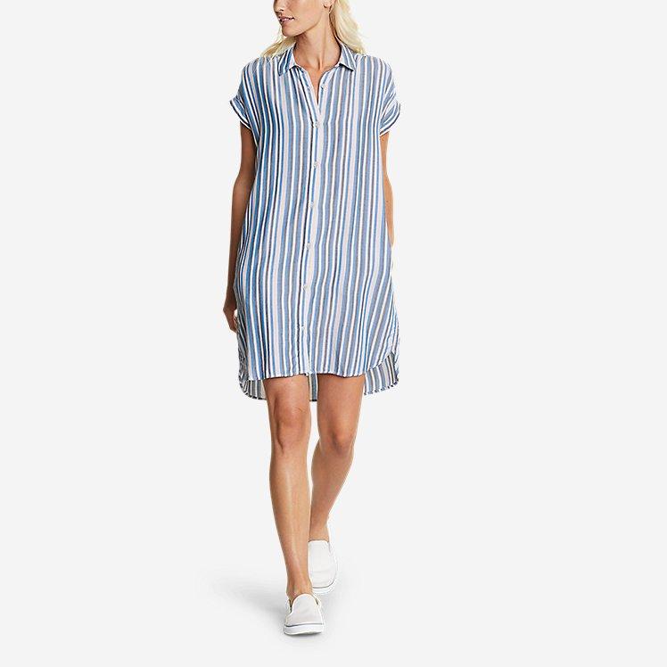 Women's Tranquil Shirred Shirt Dress - Yarn-Dyed large version