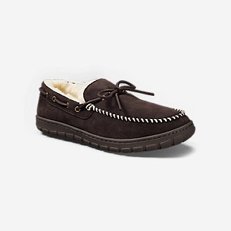 Thumbnail View 1 - Men's Shearling-Lined Moccasin Slipper