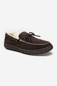 Men's Eddie Bauer Shearling-Lined Moccasin Slippers