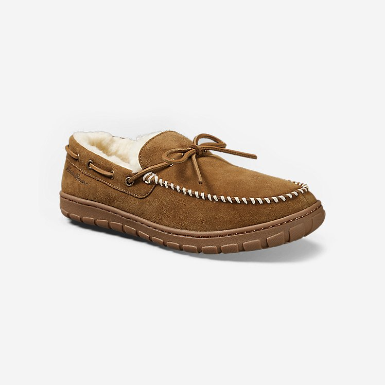 Men's Shearling-Lined Moccasin Slipper large version