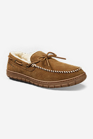 Men's Shearling-Lined Moccasin Slipper