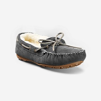 Thumbnail View 1 - Women's Shearling-Lined Moccasin Slipper
