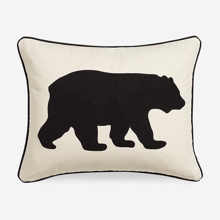 Bear Black Breakfast Pillow large version