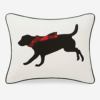 Thumbnail View 1 - Winter Lab Red Breakfast Pillow