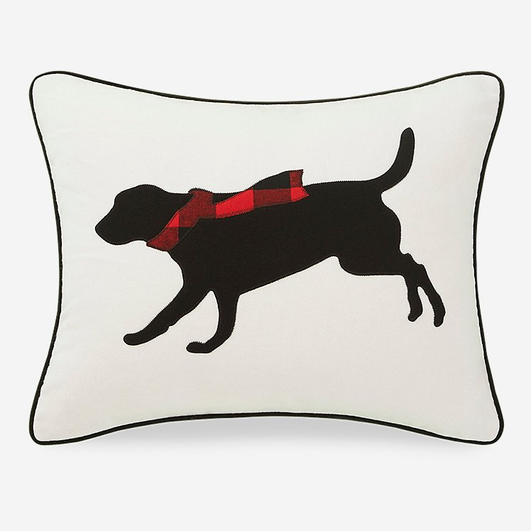 Winter Lab Red Breakfast Pillow large version