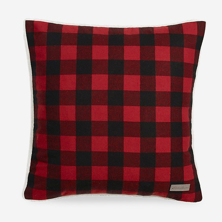 Cabin Red Plaid Pillow large version