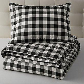 Thumbnail View 1 - Mountain Plaid Comforter/Sham Set - Black