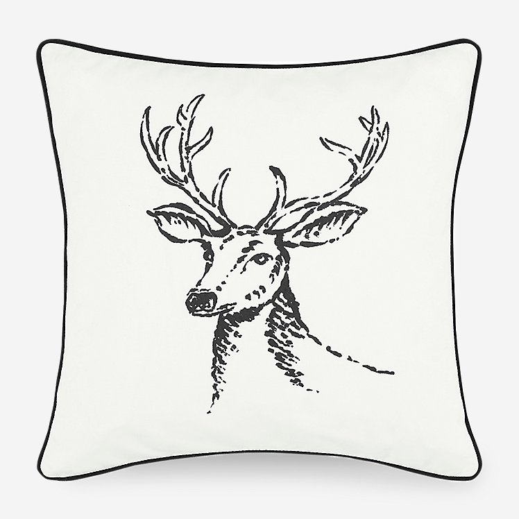Winter Morning Stag Pillow large version