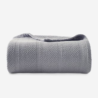 Thumbnail View 1 - Herringbone Cotton Blanket - Chrome