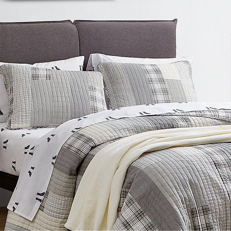Fairview Quilt/Sham Set - Gray large version