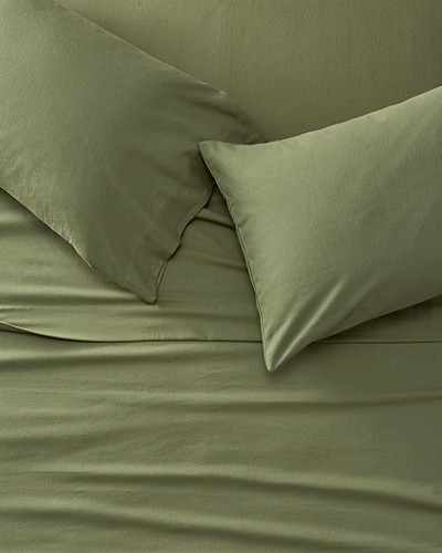 Portuguese Flannel Sheet Set   Solid by Eddie Bauer