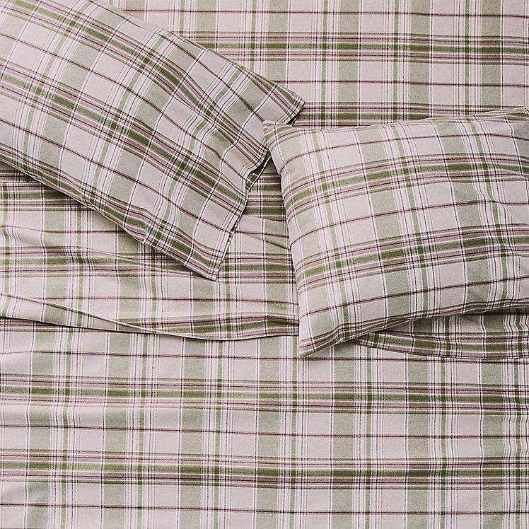 Portuguese Flannel Sheet Set - Plaids & Heathers large version