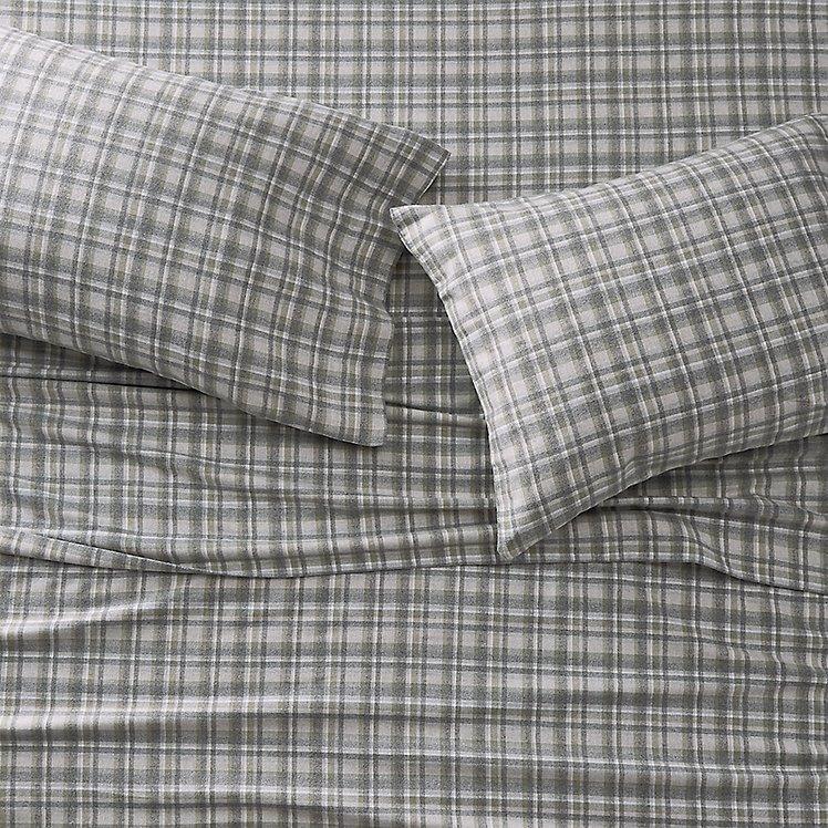 Portuguese Flannel Sheet Set Plaids Heathers Eddie Bauer
