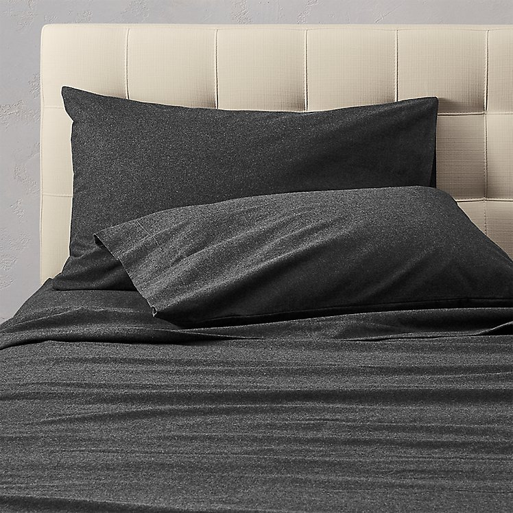 Flannel Pillowcase Set - Heather large version