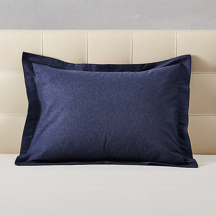 Flannel Pillow Sham - Heather large version