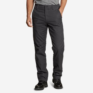 Thumbnail View 1 - Men's Snowcat Fleece-Lined Canvas Pants