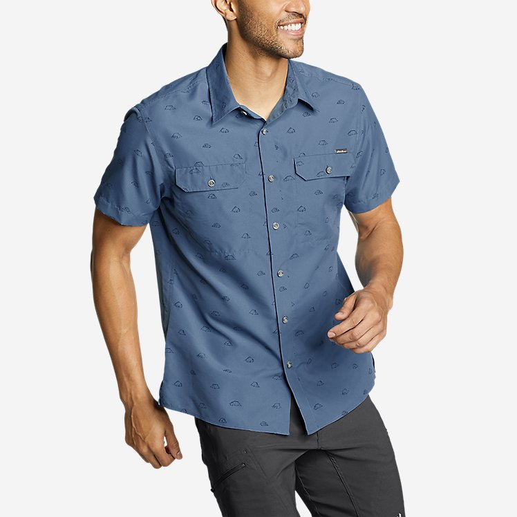 Men's Mountain Short-Sleeve Shirt - Print large version