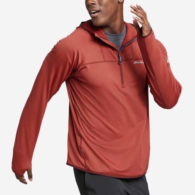 Men's High Route Grid Fleece 1/2-Zip Hoodie large version