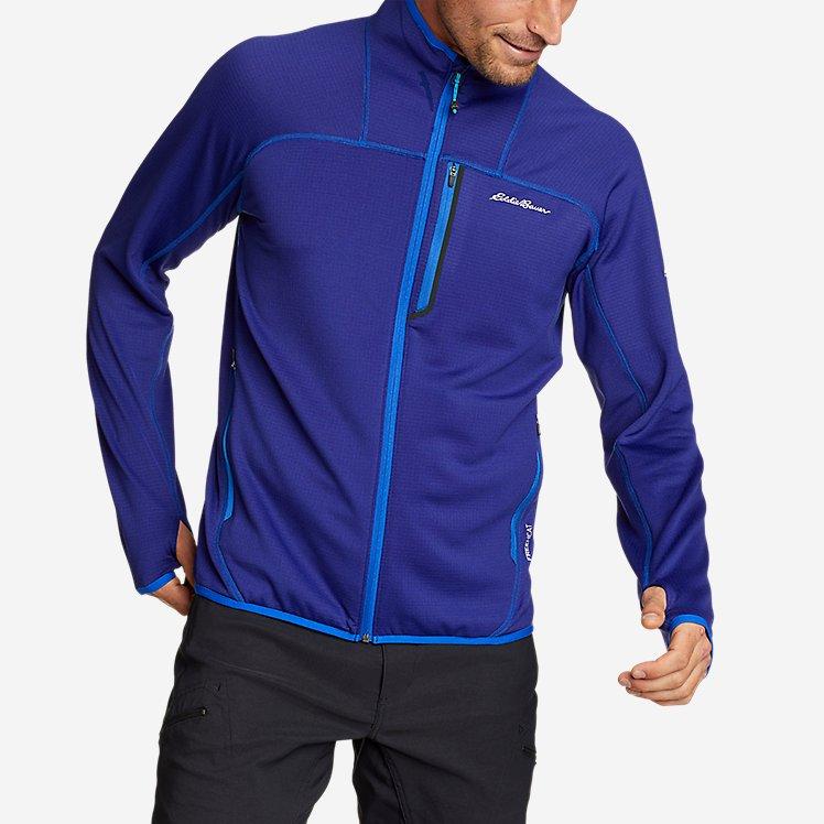 Men's High Route Grid Fleece Full-Zip Mock-Neck large version