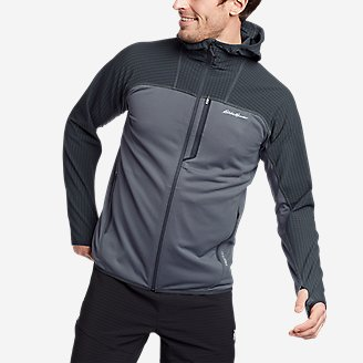 Thumbnail View 1 - Men's High Route Grid Hybrid Full-Zip Hoodie