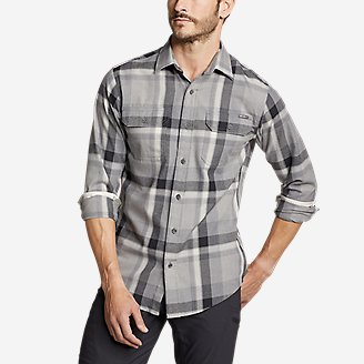 Thumbnail View 1 - Men's Eddie Bauer Expedition Performance Flannel Shirt