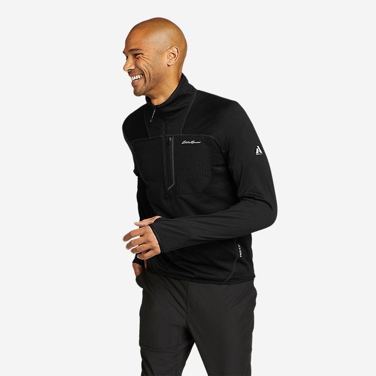 Men's High Route Grid Fleece 1/2-Zip Mock large version