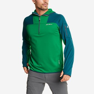 Thumbnail View 1 - Men's High Route Grid Fleece 1/2-Zip - Colorblock