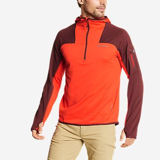 Thumbnail View 1 - Men's High Route Grid Fleece 1/2-Zip - Colorblock