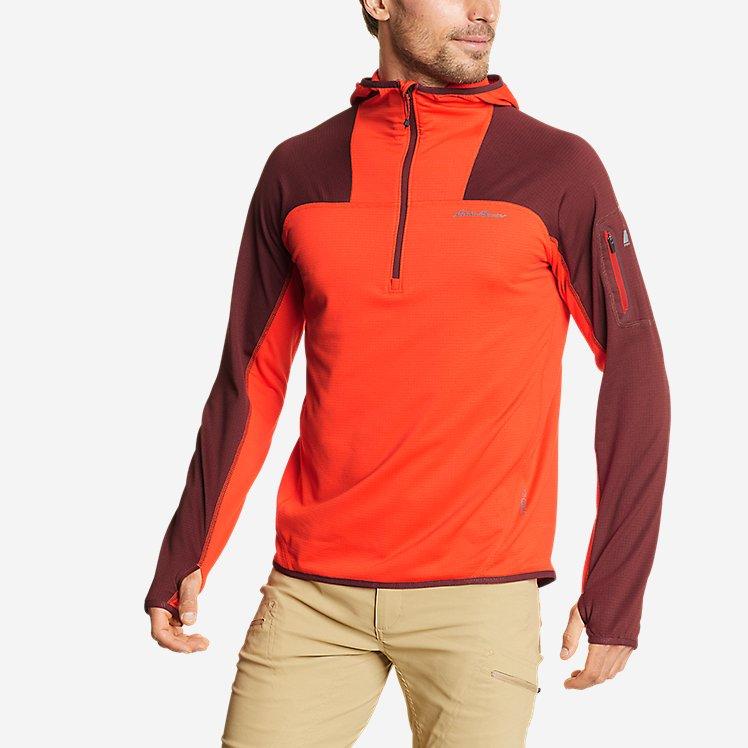 Men's High Route Grid Fleece 1/2-Zip - Colorblock large version