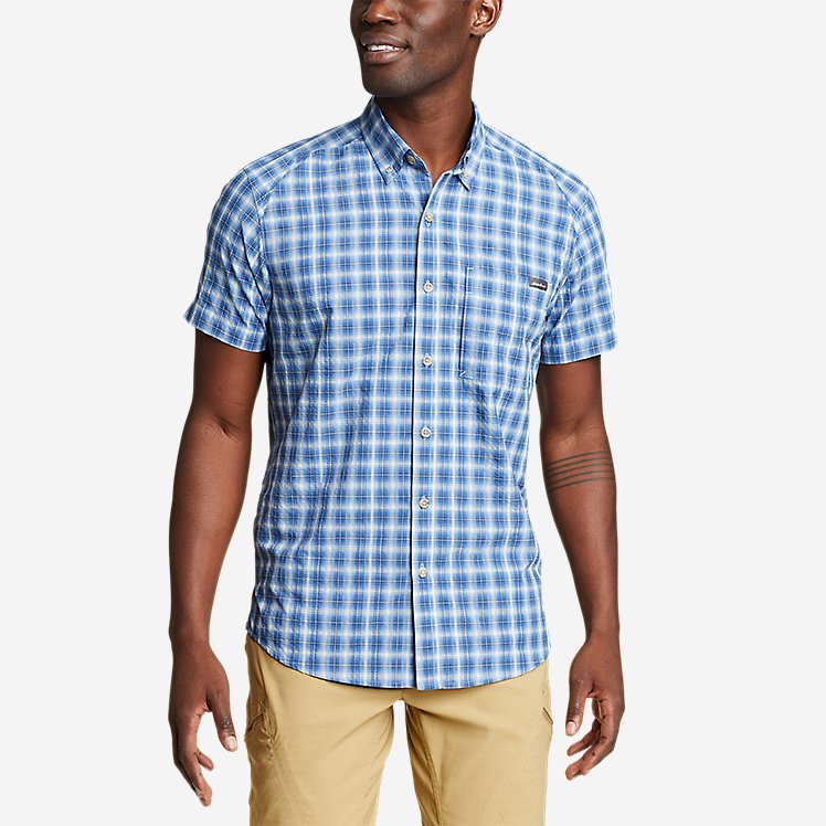 Men's Pack It Seersucker Short-Sleeve Shirt large version