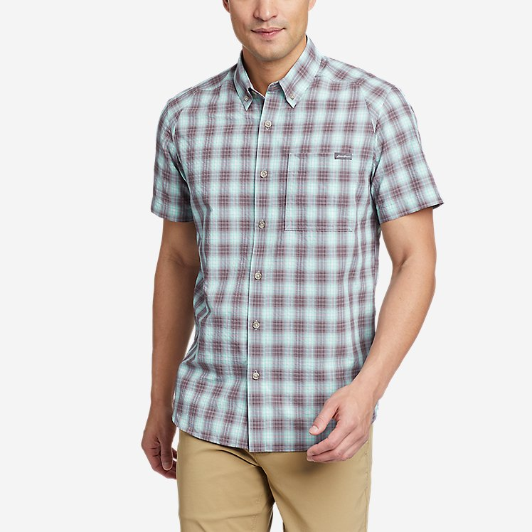 Men's Pack It Seersucker Short-Sleeve Shirt large version
